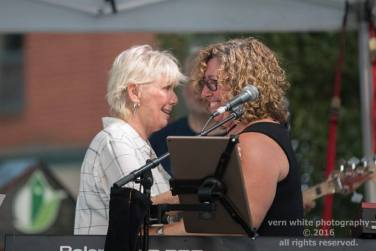 Sue Leonard & Lily Sazz share a moment - Dundas Cactus Festival