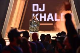 NEW YORK, NY - JULY 28: DJ Khaled onstage at Overwatch League Grand Finals - Day 2 at Barclays Center on July 28, 2018 in New York City. (Photo by Bryan Bedder/Getty Images for Blizzard Entertainment )