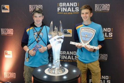 NEW YORK, NY - JULY 28: Fans attend Overwatch League Grand Finals - Day 2 at Barclays Center on July 28, 2018 in New York City. (Photo by Matthew Eisman/Getty Images for Blizzard Entertainment )