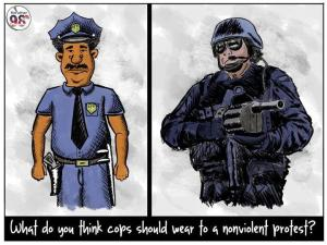 Which Cop Should be at a Non Violent Protest?