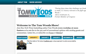 AUDIO Copblocker Pete Eyre Guest on Tom Woods Show