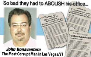 Las Vegas Constable John Bonaventura Ordered Cover Up of illegal Data Searches