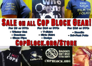 Cop Block T-Shirt / Hoodie Sale Has Good Impact Thus Far