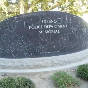 Fresno Police Dept Memorial Chalking