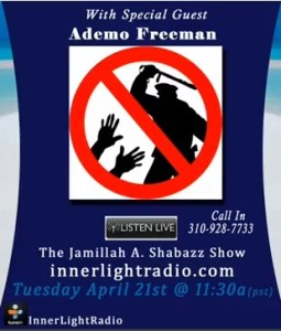 Listen to Ademo on the Jamillah A. Shabazz Show