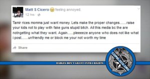 """Cleveland Cop Suspended For Calling Tamir Rice's Mom A """"Stupid B*tch"""""""