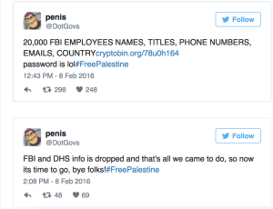 Hacker Named Penis Penetrates FBI Leaks Contact Information of 20,000 Employees