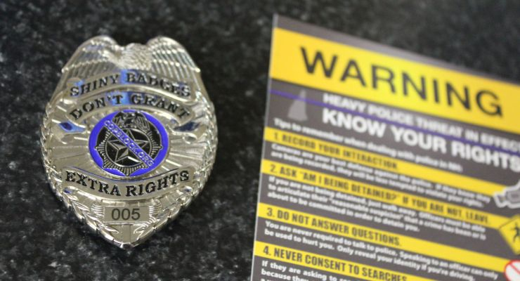 Cop Block Badge #5 and Flyer