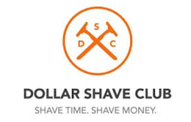 dollar shave club logo - white