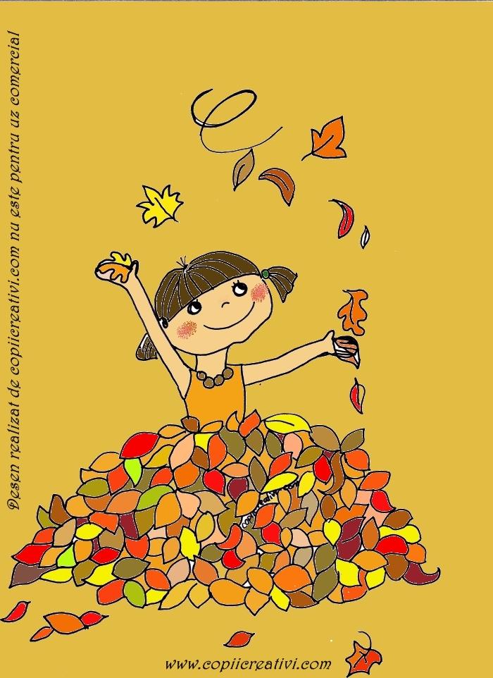 Culorile toamnei, poveste pentru copiii mei- frunza galbena