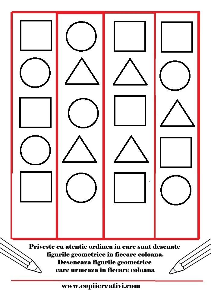 Desene logice cu figuri geometrice