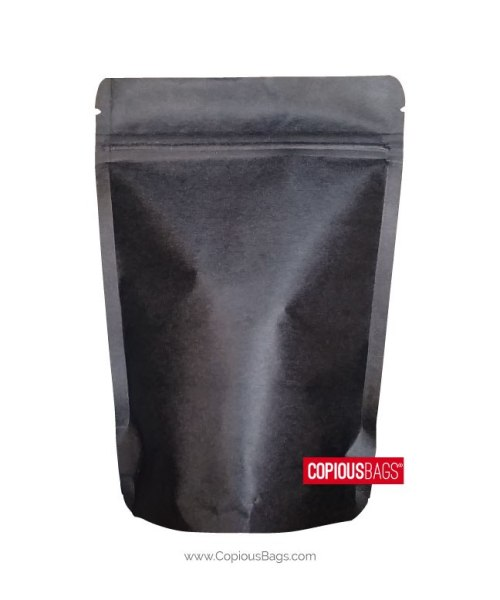 1 oz Black Kraft Stand Up Pouches 3×5 : 28 g
