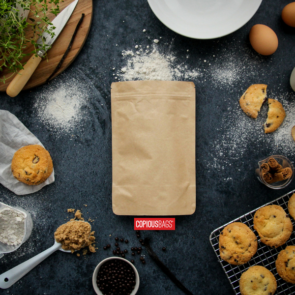 4 oz kraft stand up bag | baking mix packaging