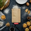 8 oz kraft stand up bag | baking mix packaging