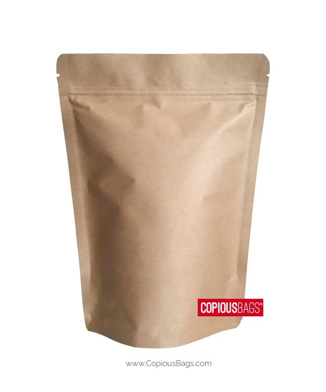 4 oz Kraft Stand Up Pouch 5×8 : 140g