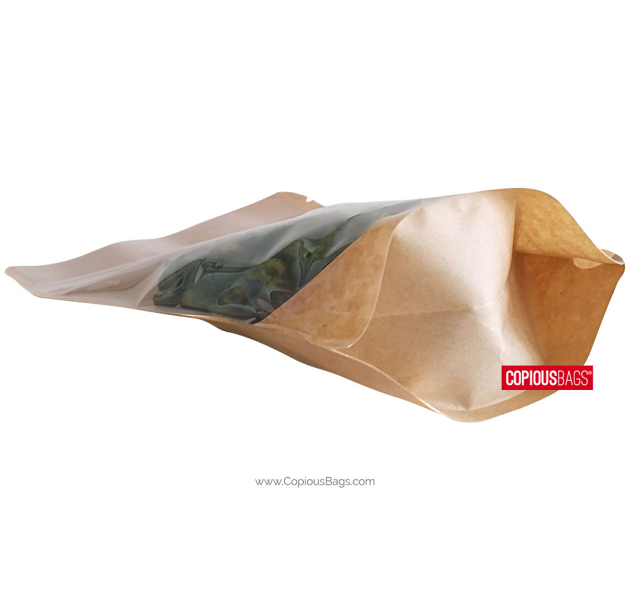 Kraft-Clear-Stand-Up-Pouch-Bag-Gusset