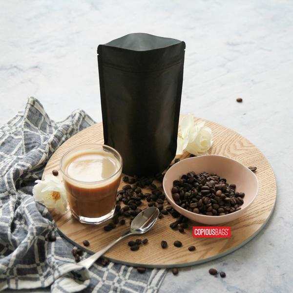 black coffee bag packaging