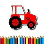 Easy Kids Coloring Tractor