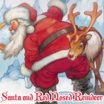 Santa and Red Nosed Reindeer Puzzle