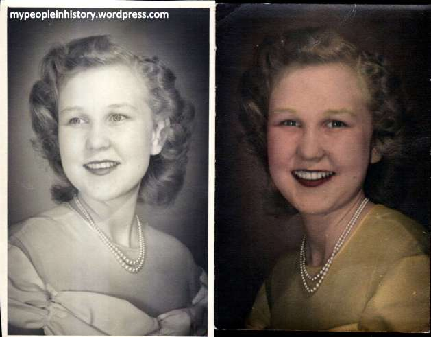 Grandma in 1946, about 16 years old.