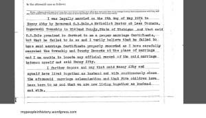 437 Affidavit 1921