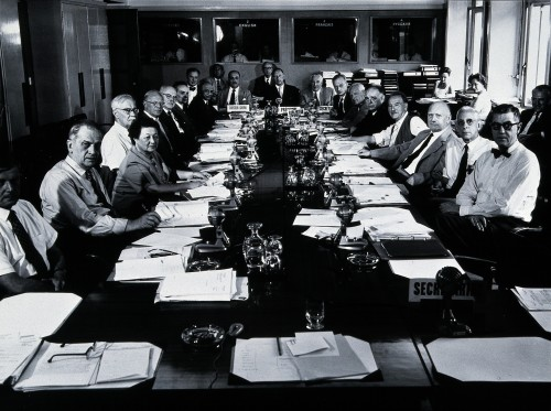 Research Planning and Coordination Annual meeting (WHO?). Ph Credit: Wellcome Library, London. Wellcome Images images@wellcome.ac.uk http://wellcomeimages.org Research Planning and Coordination Annual meeting (WHO?). Photograph, 1960. Published:  -  Copyrighted work available under Creative Commons Attribution only licence CC BY 4.0 http://creativecommons.org/licenses/by/4.0/