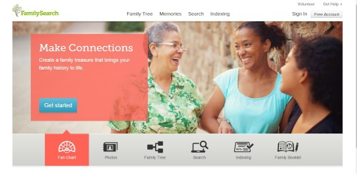 familysearch main page