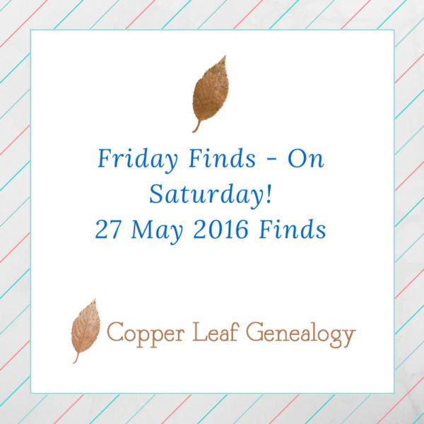 Friday Finds - on Saturday!27 May 2016