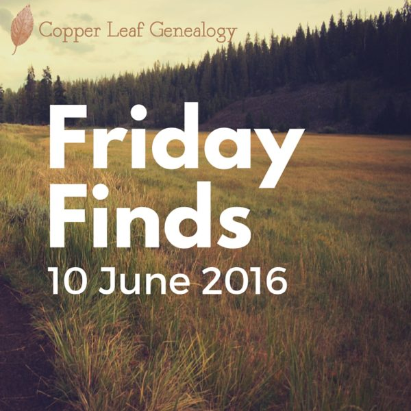 Friday Finds 10 June 2016