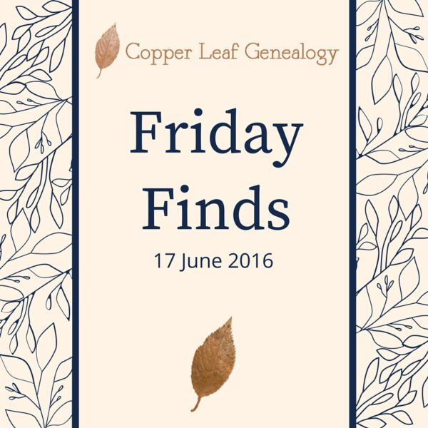 Friday Finds 17 June 2016