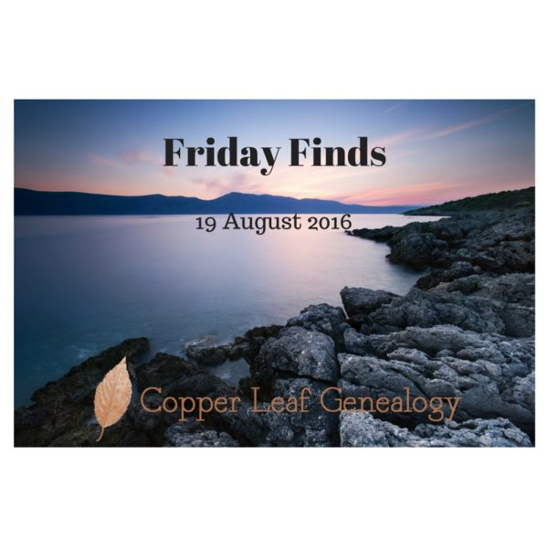 Friday Finds 16 August