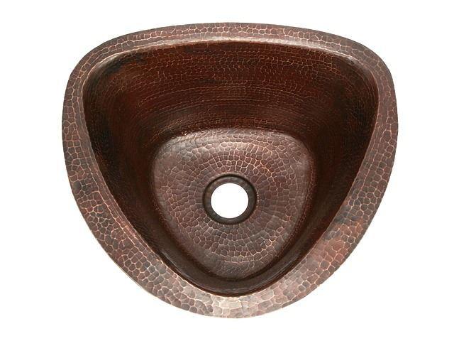 15 triangular copper bar sink by soluna