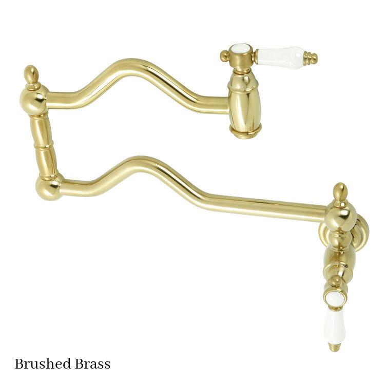 kingston brass bel air wall mount pot filler faucet