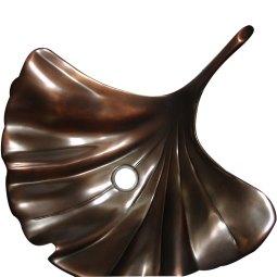 Cast Bronze Sink Antique Dark Finish - Coppersmith Creations
