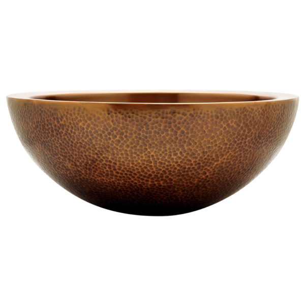 Double Wall Copper Sink Outside Hammered Inside Smooth
