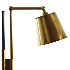 Bronze and Brass Task Floor Lamp - Coppersmith Creations