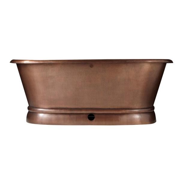 Pedestal Copper Bathtub - Coppersmith Creations