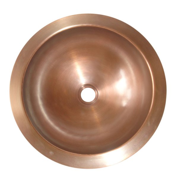 Round Antique Copper Sink - Coppersmith Creations