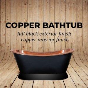 Copper Bathtub Full Black Exterior