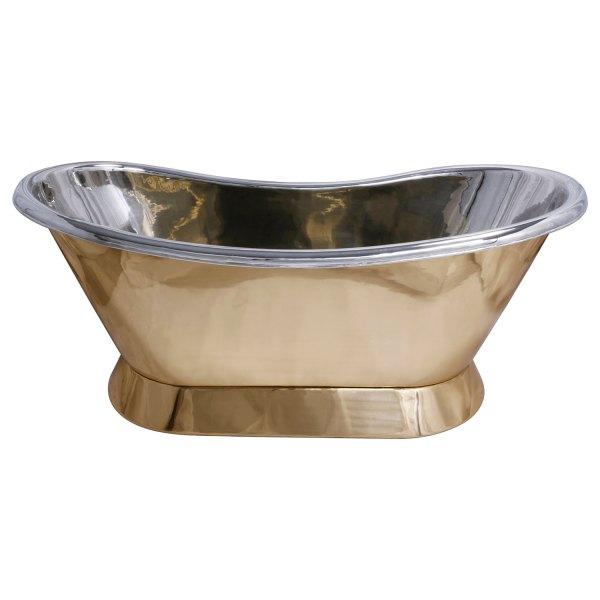 Slanting Base Brass Bathtub Nickel Inside