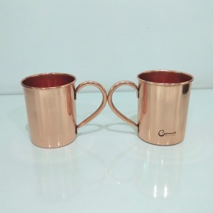 Cylindrical Copper Mugs Plain
