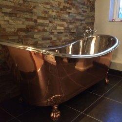 Clawfoot Copper Bathtub Nickel Inside