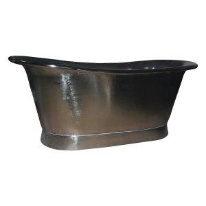 Straight Base Copper Bathtub Full Nickel Finish