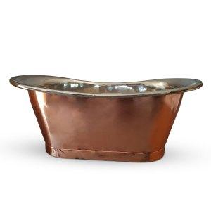 Copper Bathtub Nickel Finish Inside Copper Outside