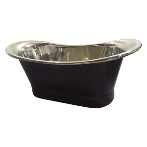 Copper Bathtub Nickel Inside Black Outside