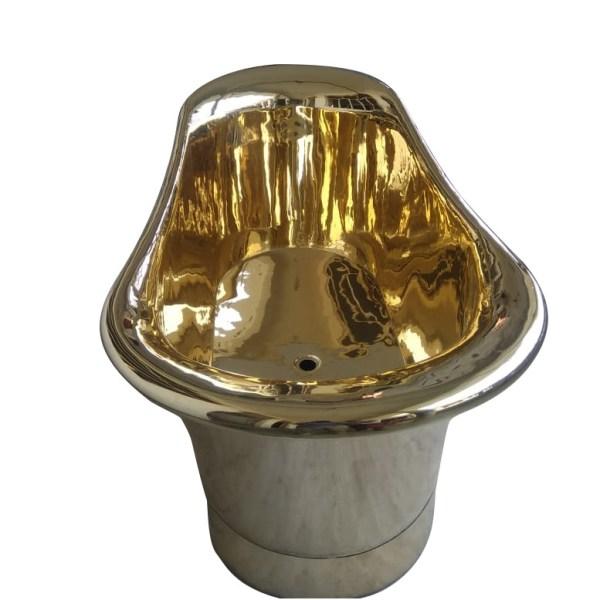 Straight Base Brass Bathtub Full Brass