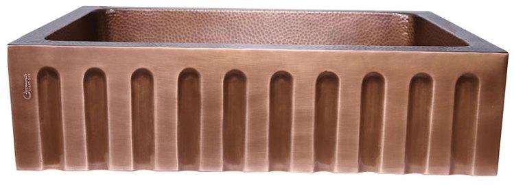 Single Bowl Vertical Parallel Lines Front Apron