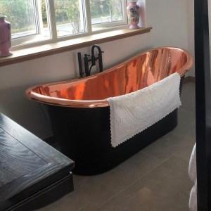 Roll Top Copper Bathtub
