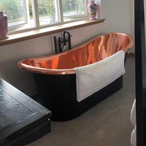Roll Top Copper Bathtub