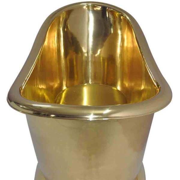 Brass Bathtub + Sink Full Brass